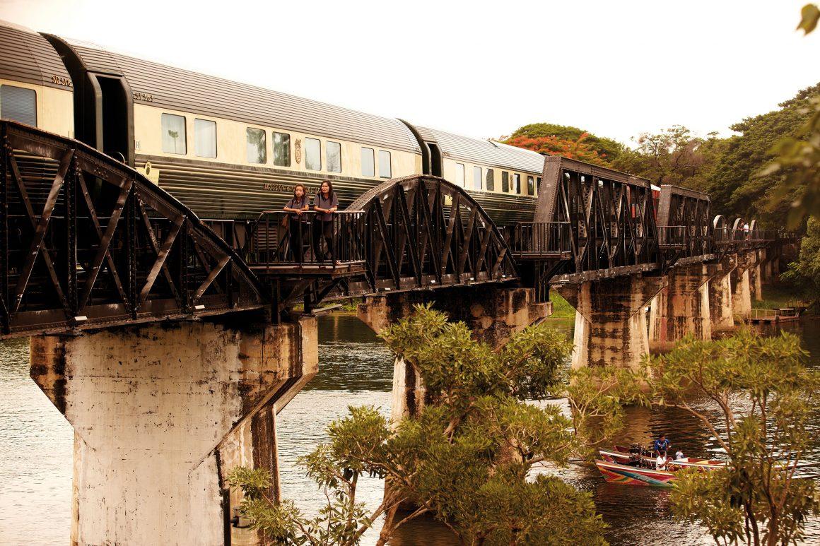 L'Eastern & Oriental Express sur le pont de la rivière Kwai