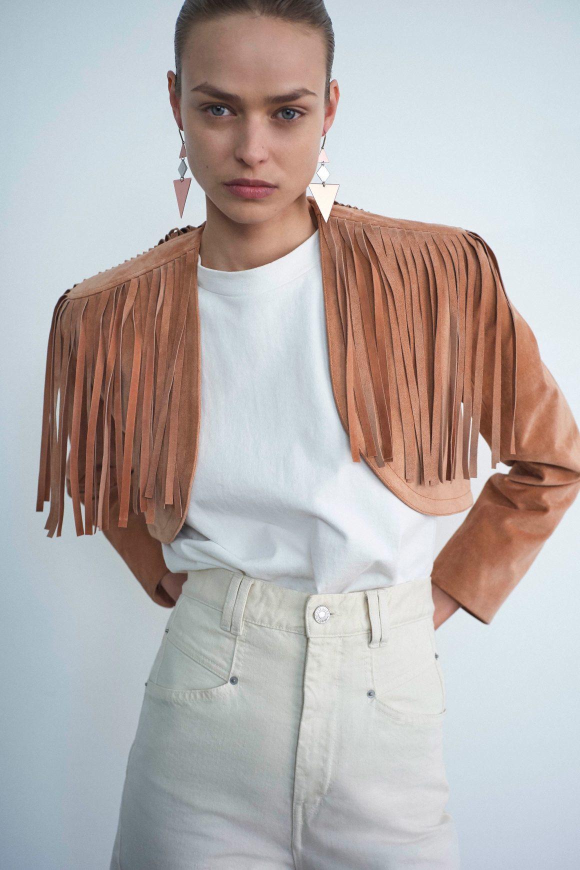 Une tenue d'inspiration western imaginée par la créatrice Isabel Marant