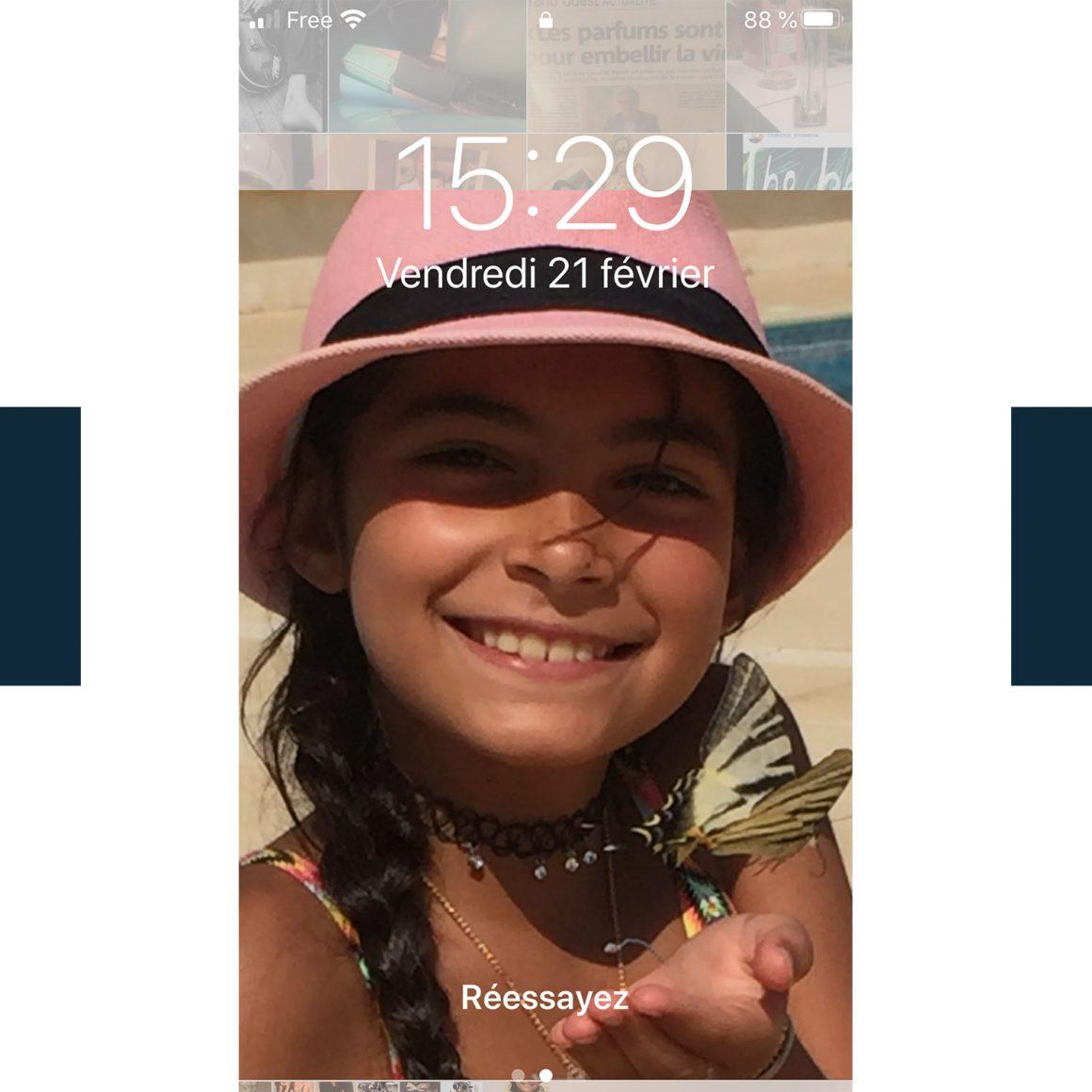 Le fond d'écran du téléphone de Nino Amaddeo
