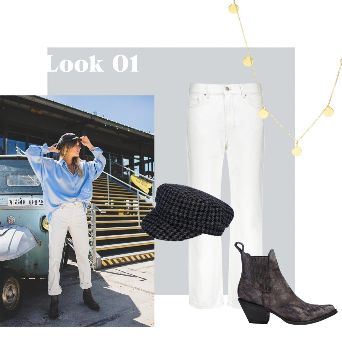 Jean Anine Bing, collier And... Paris, casquette Isabel Marant et boots Mexicana