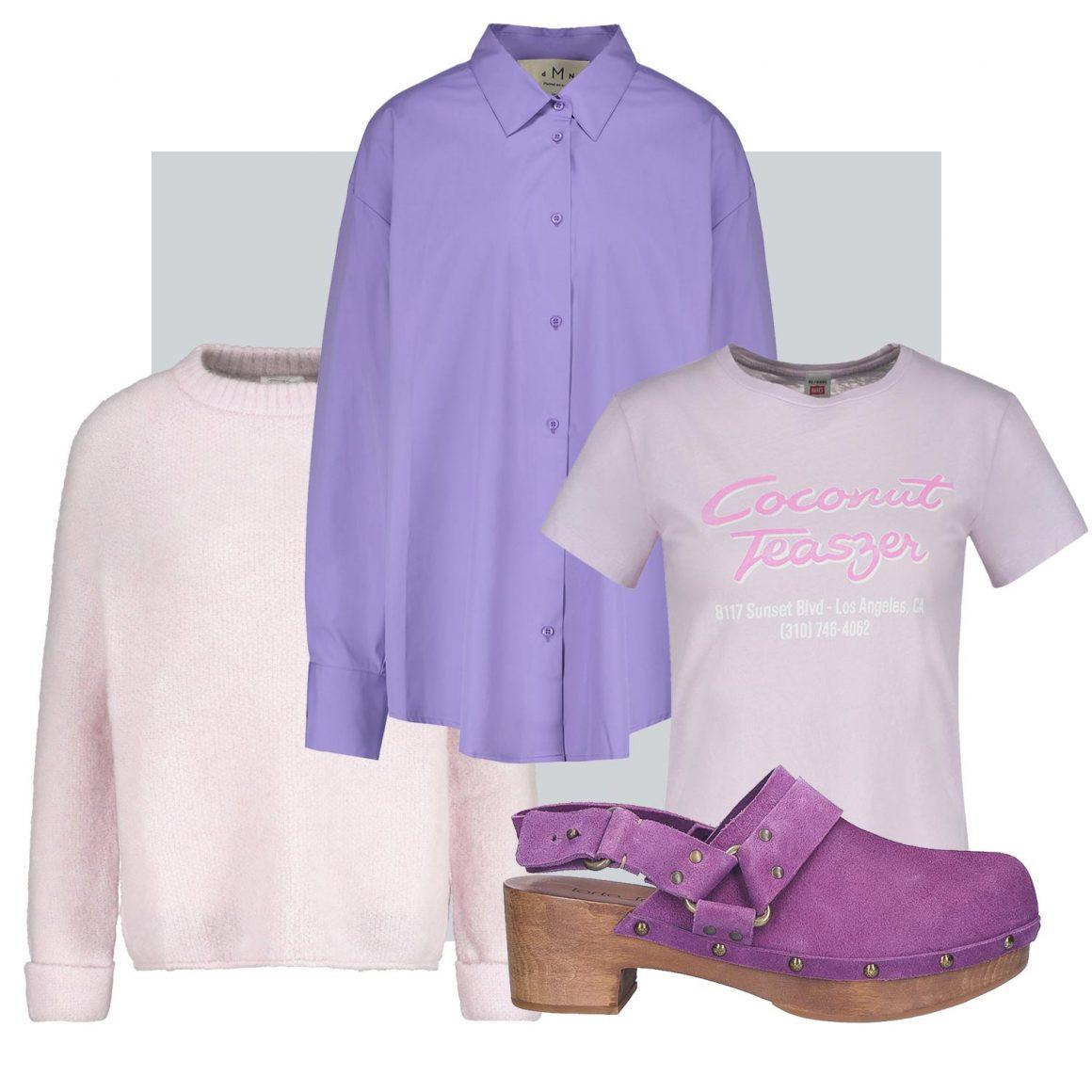 Sélection d'articles violets et pastel à retrouver chez Jane de Boy