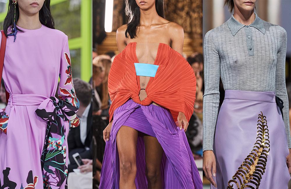 Le lilas, grand favori de la collection été 2020 de Valentino, Balmain et Prada