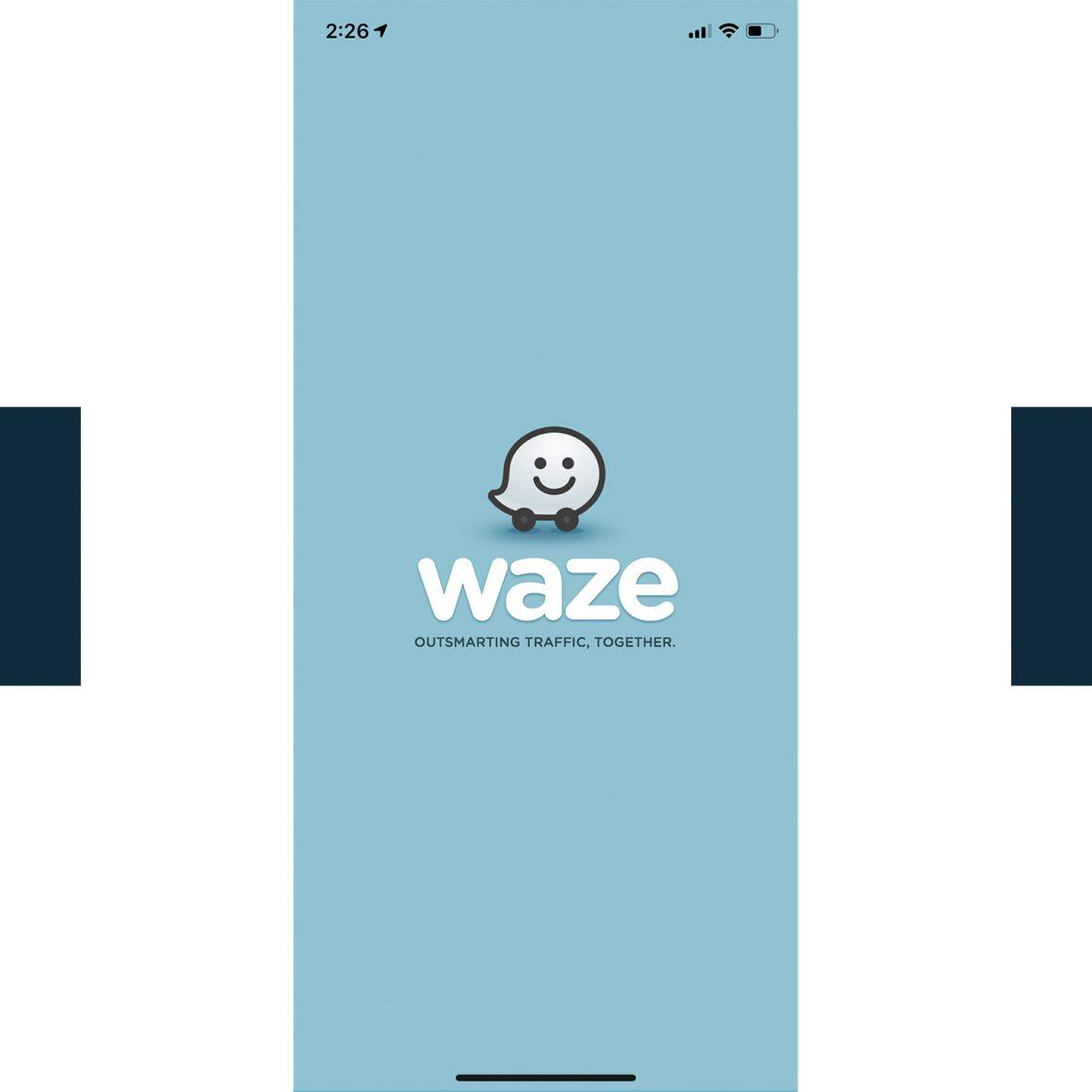 Capture d'écran de l'application mobile Waze