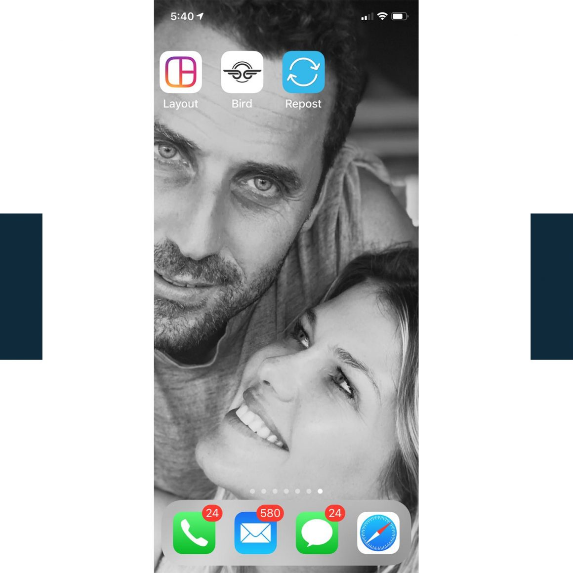 Le fond d'écran du téléphone d'Ingrid Seynhaeve