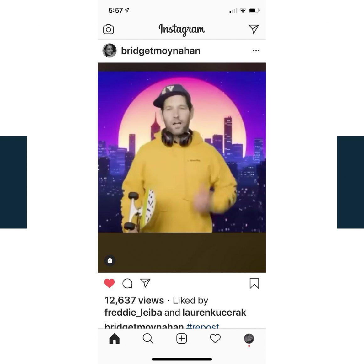 Capture d'écran du compte Instagram de Bridget Moynahan