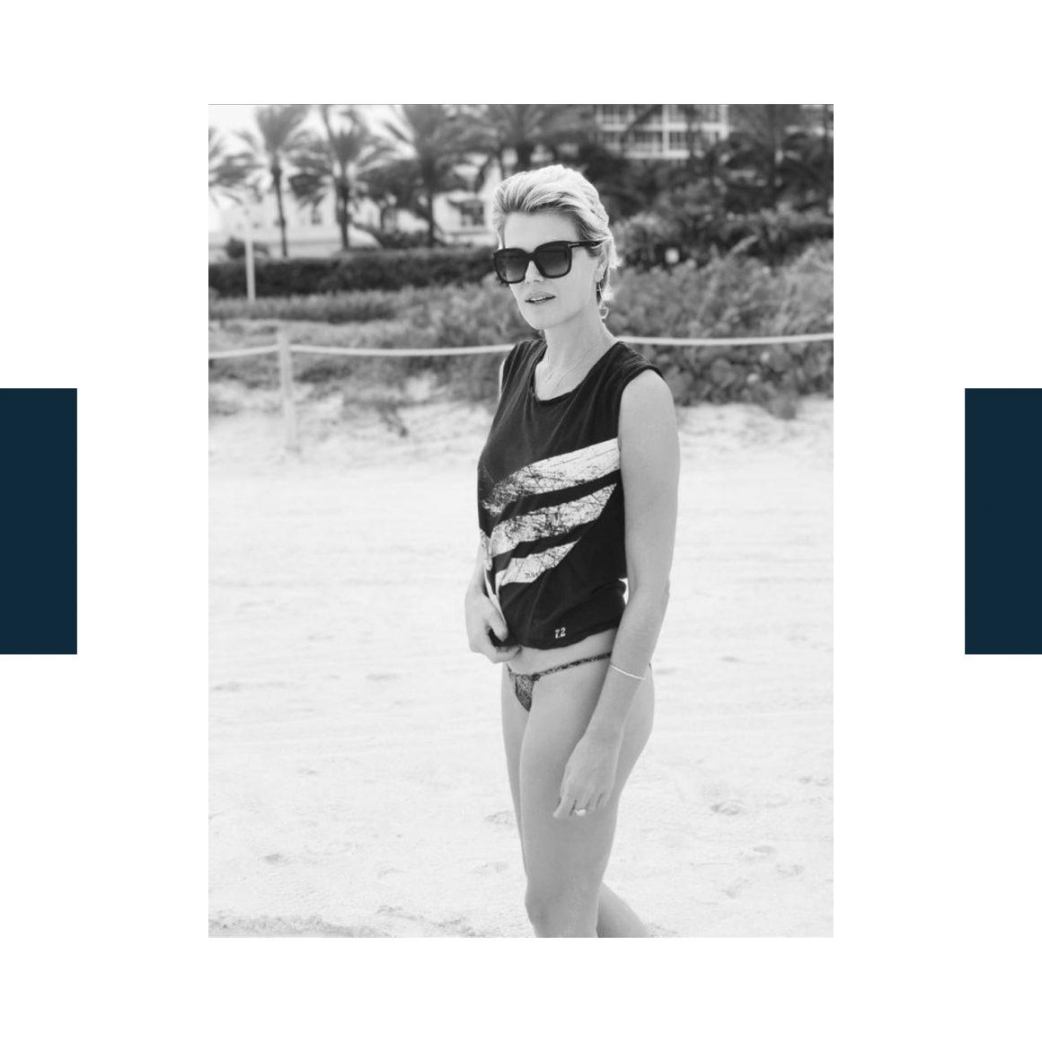 Ingrid Seynhaeve porte le tee-shirt Ruby de June7.2