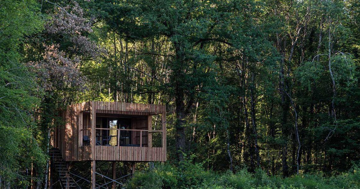 Le Loire Valley Lodges offre une immersion totale en pleine forêt