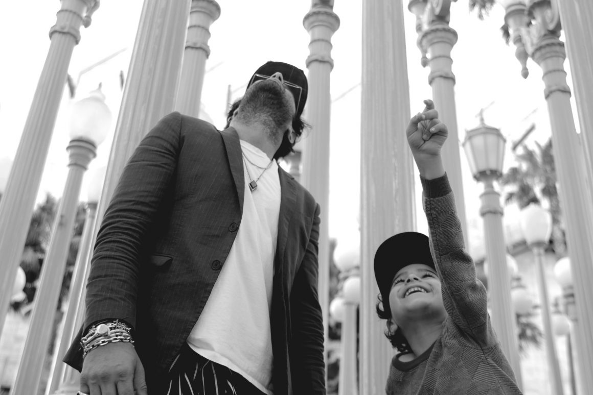 Maor Cohen avec son fils