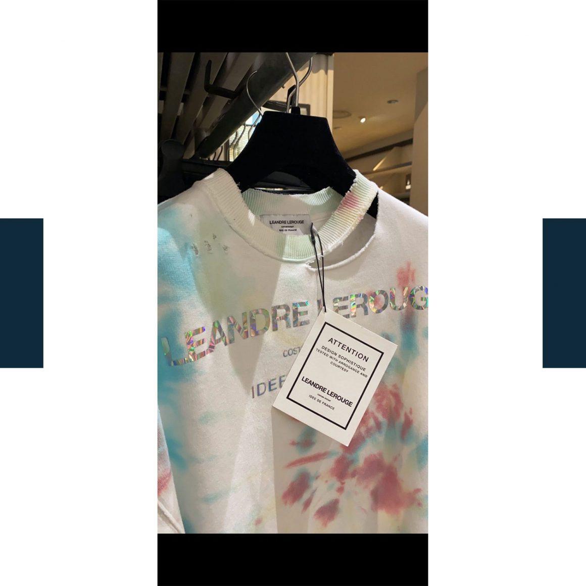 Photo d'un sweat-shirt de la collection IDEA de Leandre Lerouge