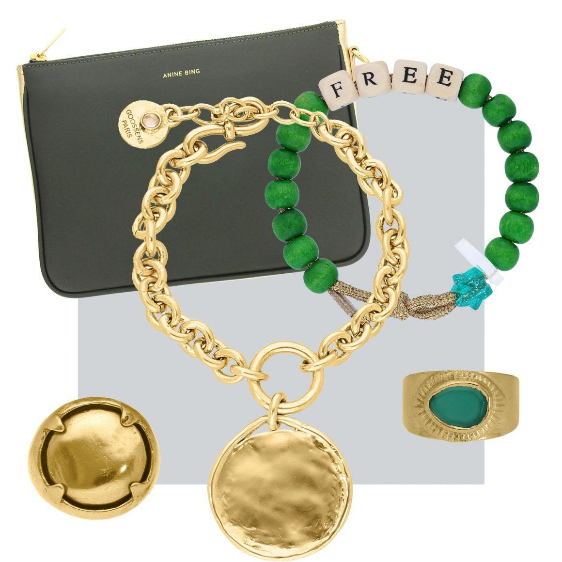 Sélection d'articles à porter avec le bracelet Love Beads de Lauren Rubinski