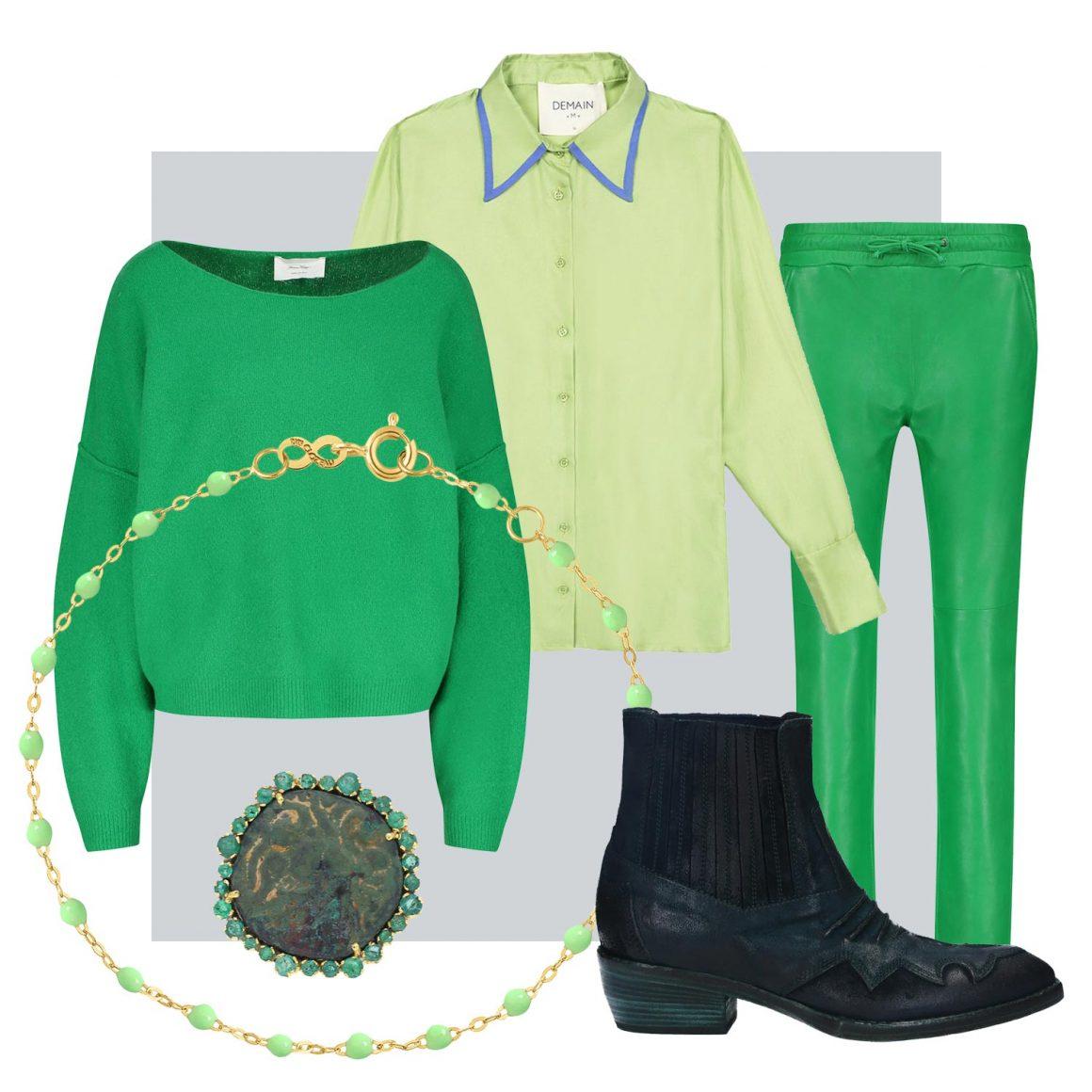 Sélection mode de pièces vertes à retrouver chez Jane de Boy