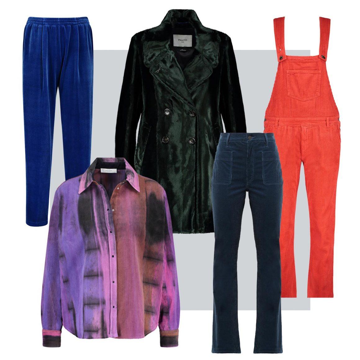 Sélection de vêtements en velours à retrouver chez Jane de Boy