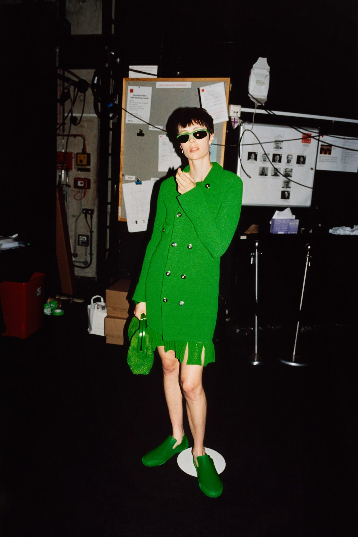 Le total look vert vu par Bottega Veneta