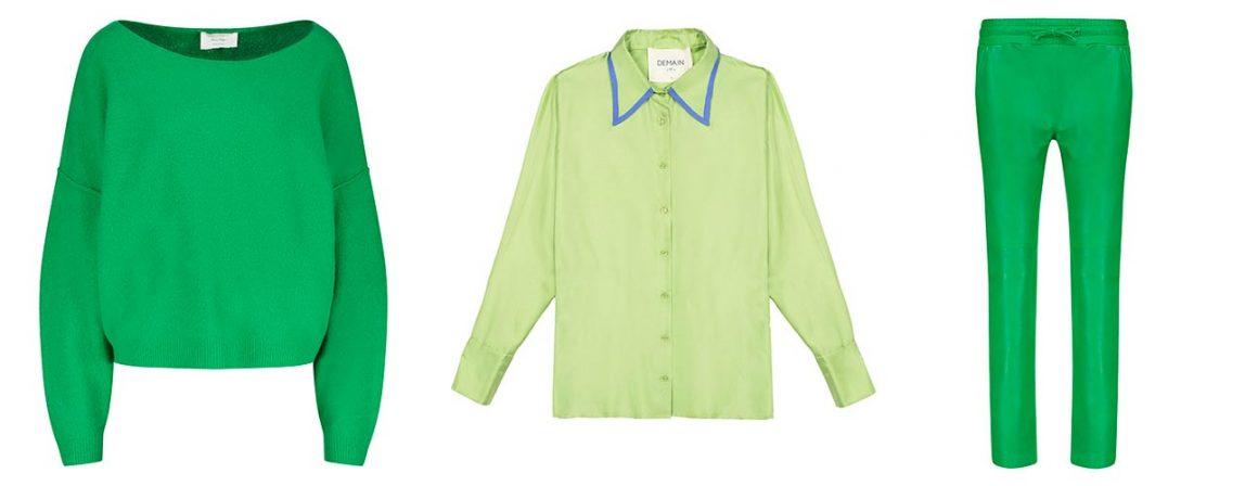 Sélection de vêtements verts à retrouver chez Jane de Boy