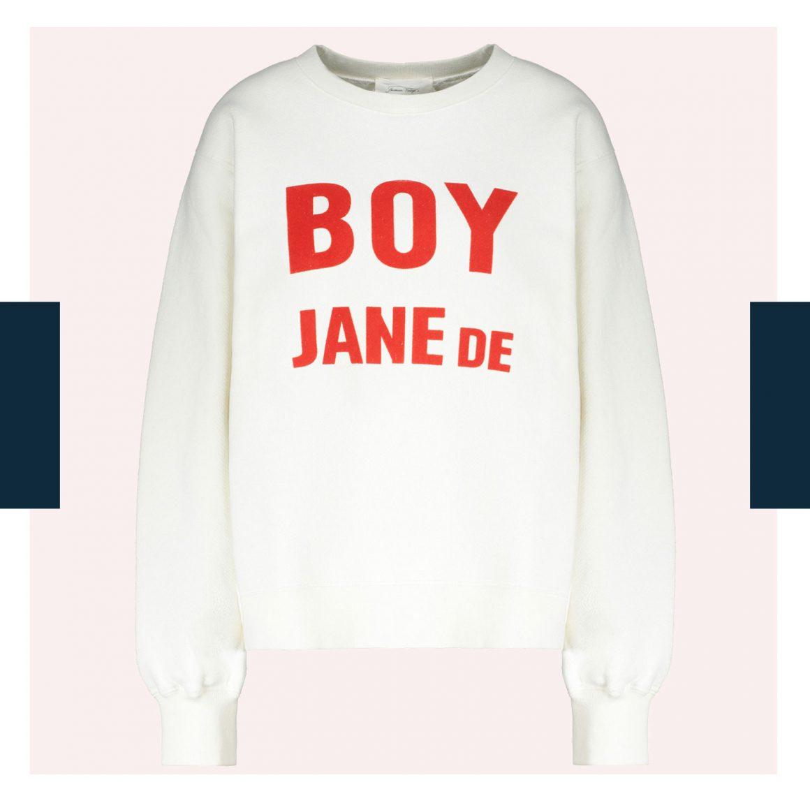Le sweat-shirt « Boy Jane De » en collaboration avec American Vintage