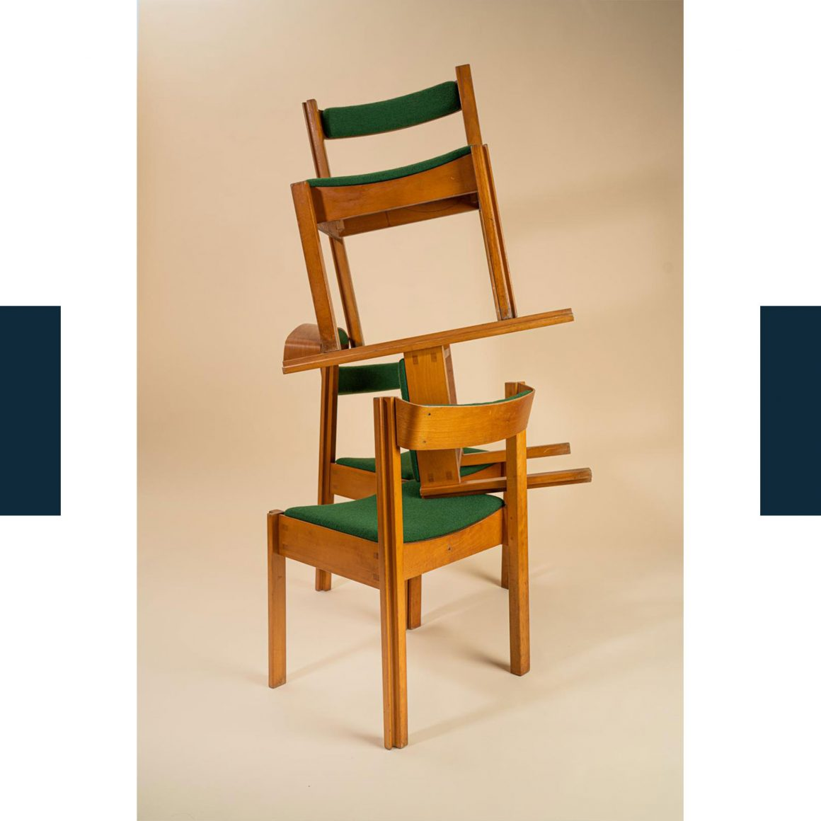 Les 4 chaises design chinées par David Lucas sur le Bon Coin