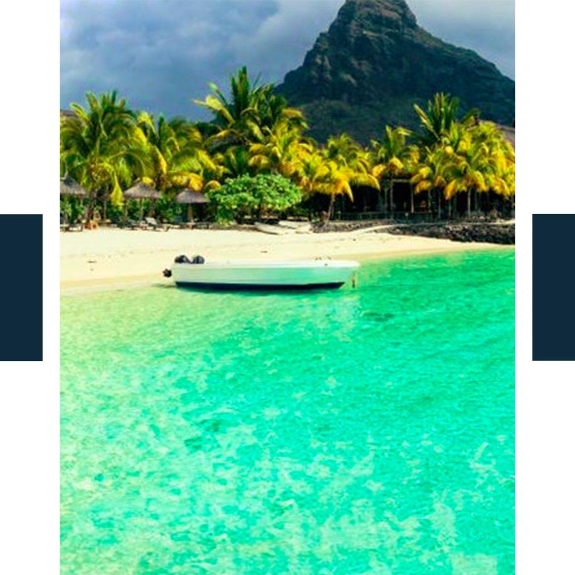 Photo d'une plage paradisiaque à l'ile Maurice