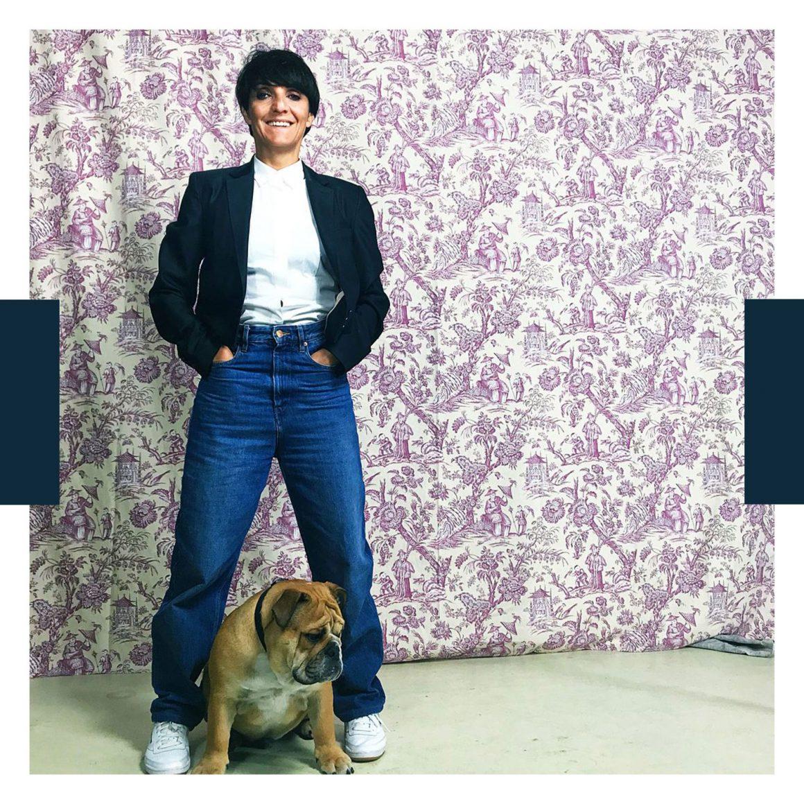 Photo de Florence Foresti avec son chien
