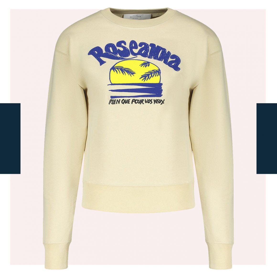 Le sweat-shirt Louis Sunset de Roseanna (coloris vanille)