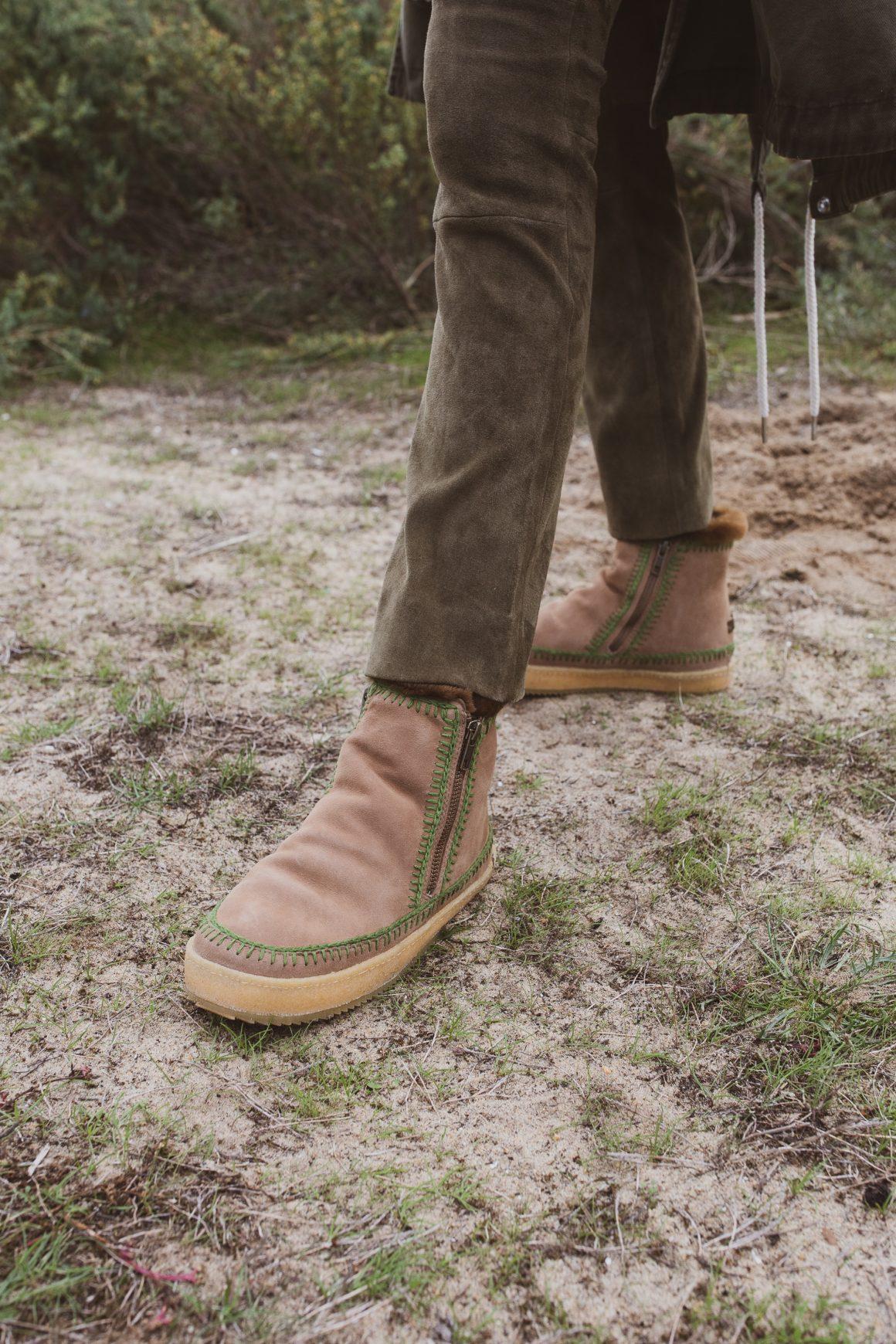 Les boots Setsu Crochet camel de Laidback London