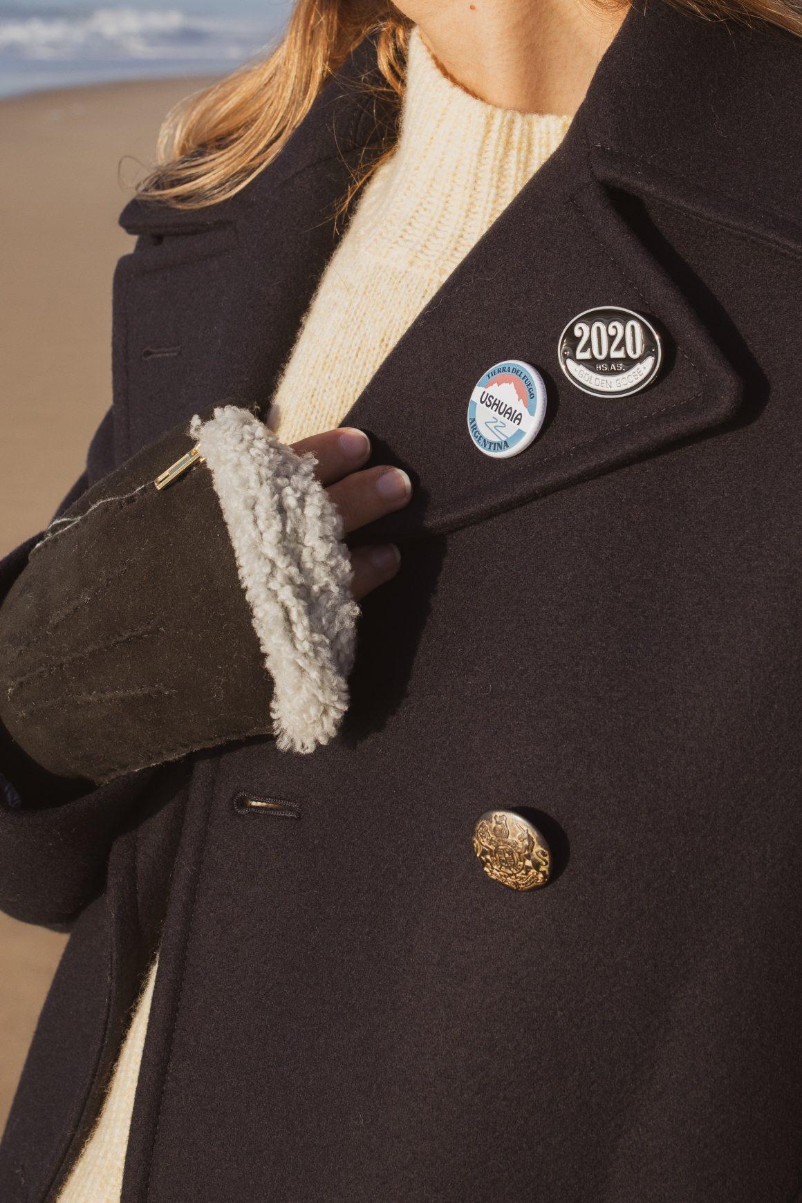 Le manteau Alida en laine feutrée de Golden Goose