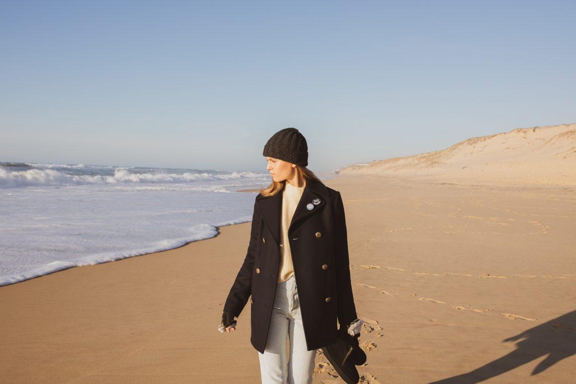 Idée de look pour passer une belle journée d'hiver au bord de la mer