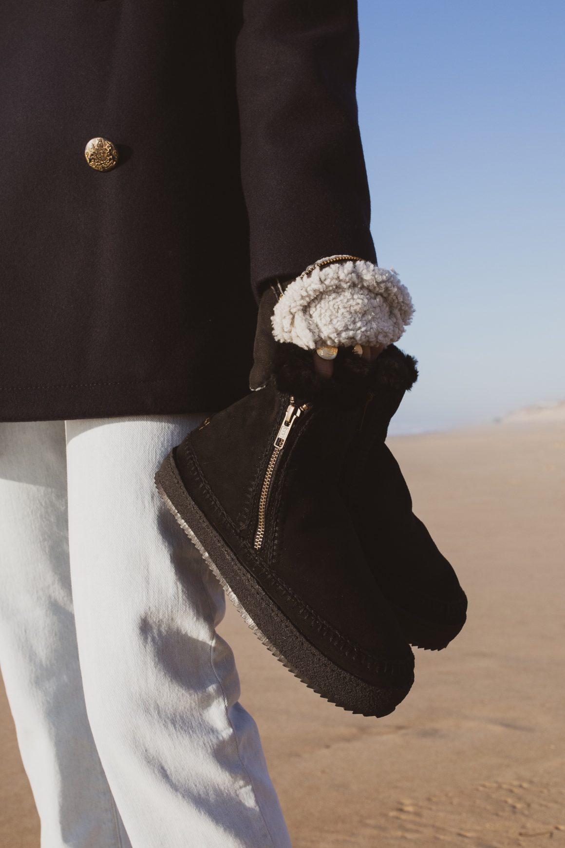 Les boots Setsu Crochet black de Laidback London