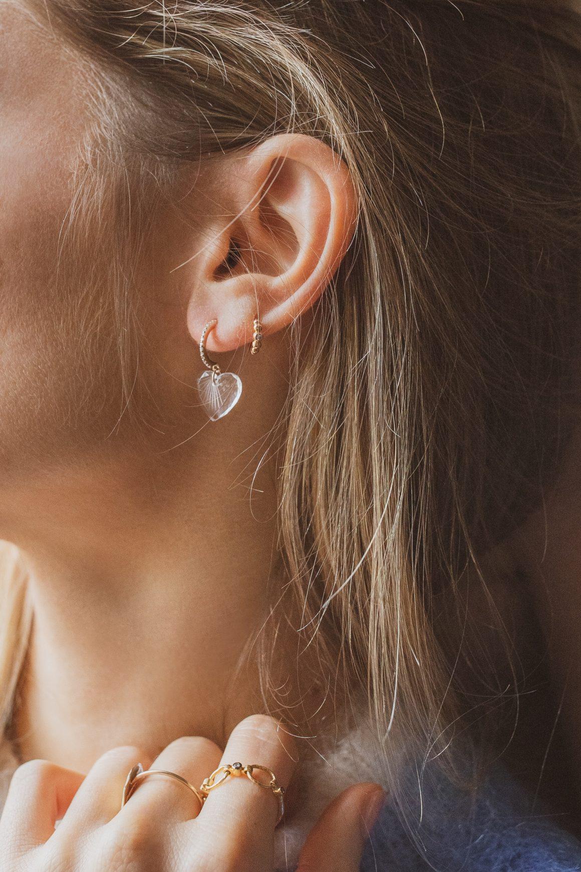 Les boucles d'oreille Gabin N°1 Pascale Monvoisin