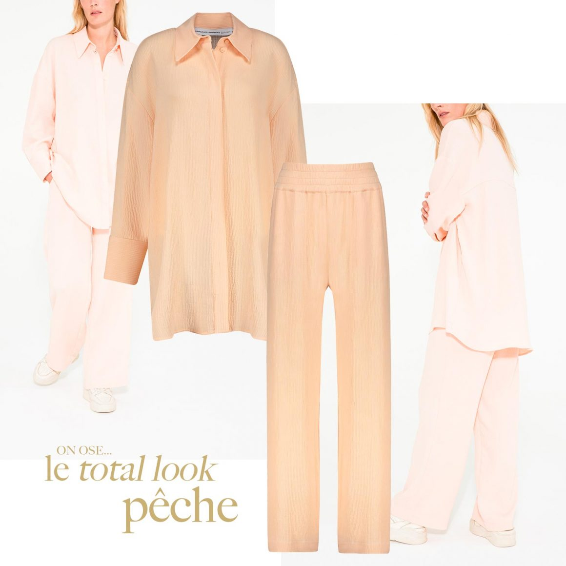 On ose le total look pêche avec Margaux Lonnberg