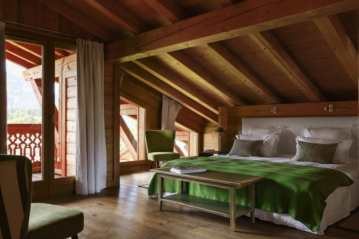 Chambre d'un chalet de montagne aux Carroz
