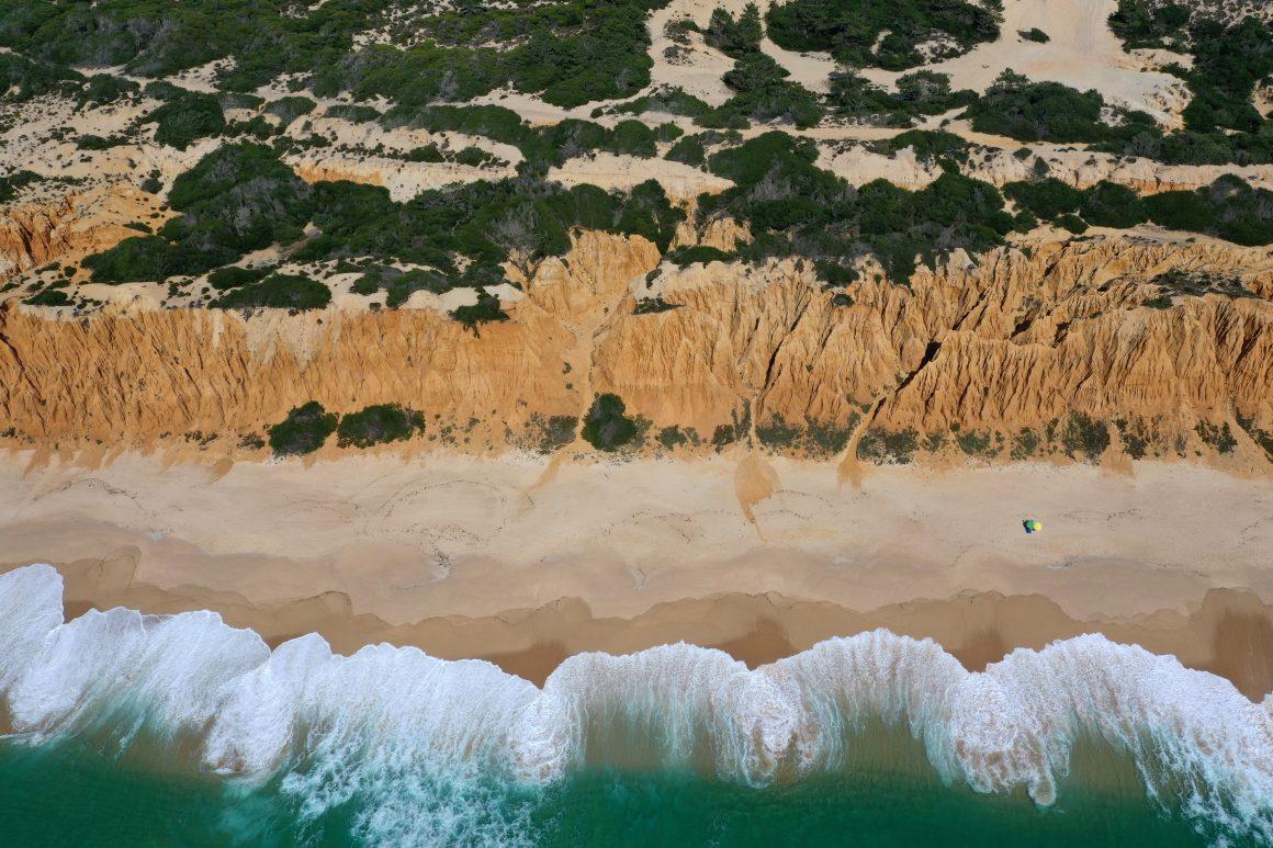Vue aérienne de la Costa da Caparica