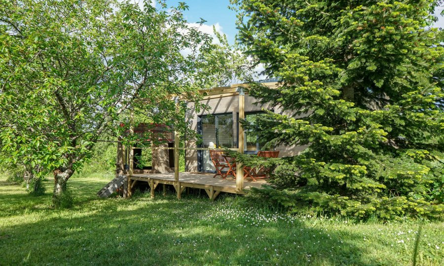 La Tiny House Lumen en pleine nature