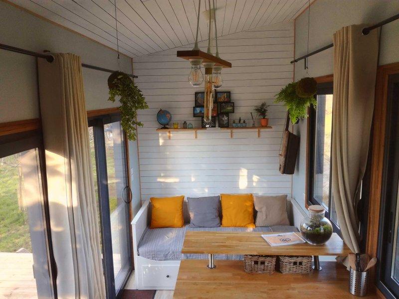Intérieur de la Tiny House Lumen