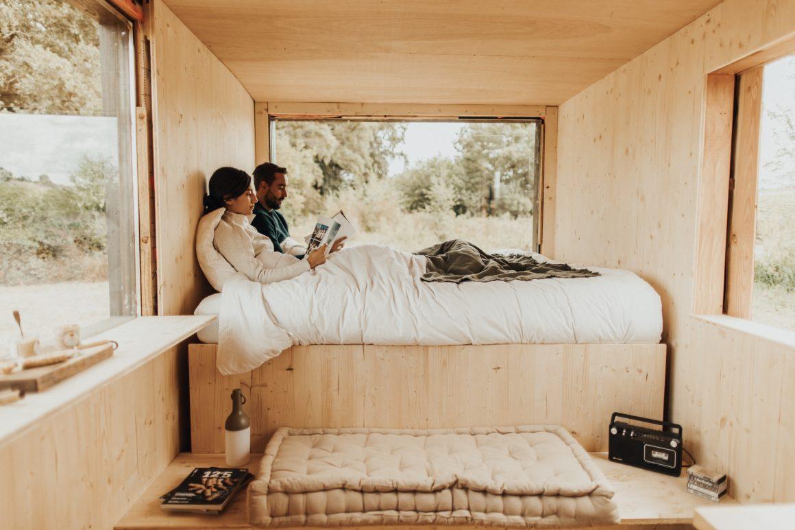 Chambre cosy dans une Tiny House