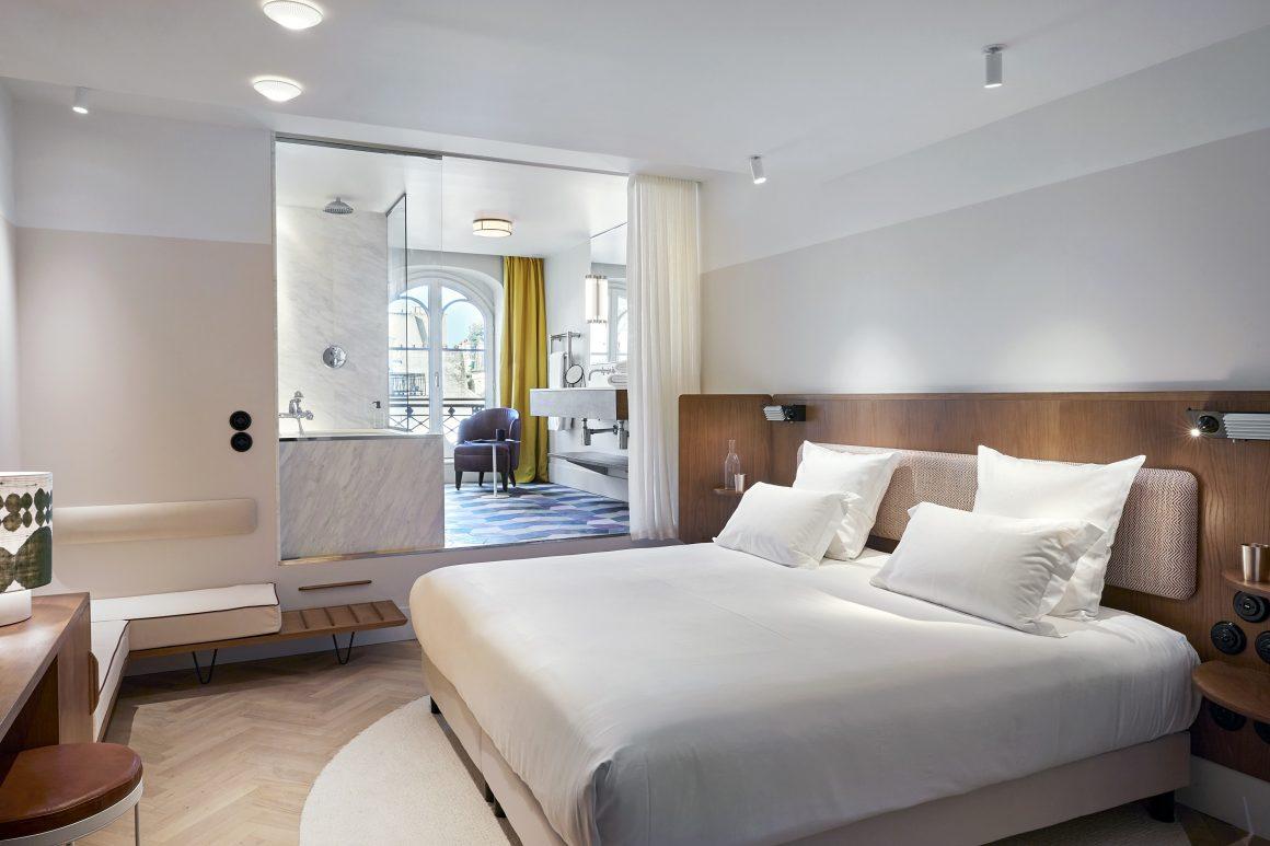 Une chambre de l'hôtel du Sentier à Paris