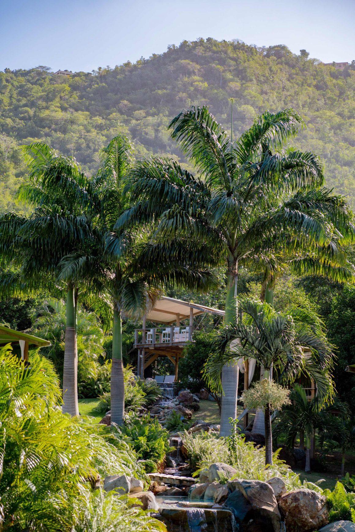 Les terrasses de la Loterie Farm à Saint Martin