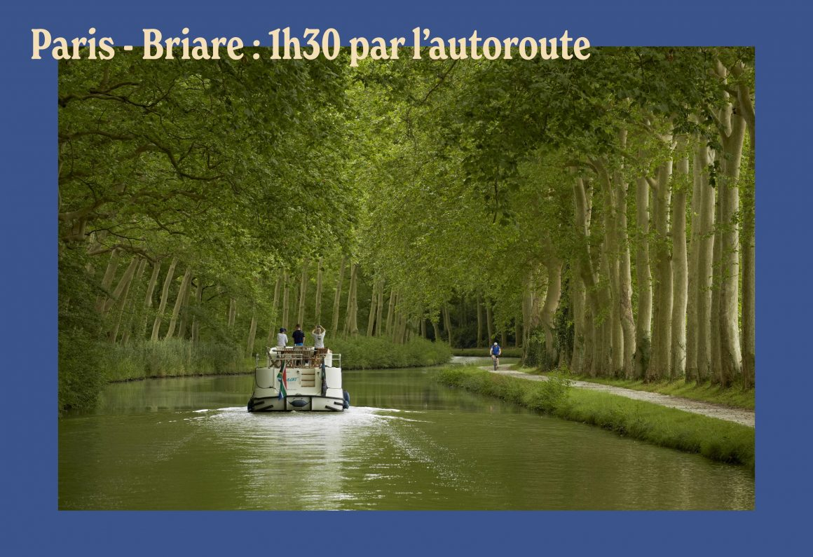 Le canal de Briare à 1h30 de Paris
