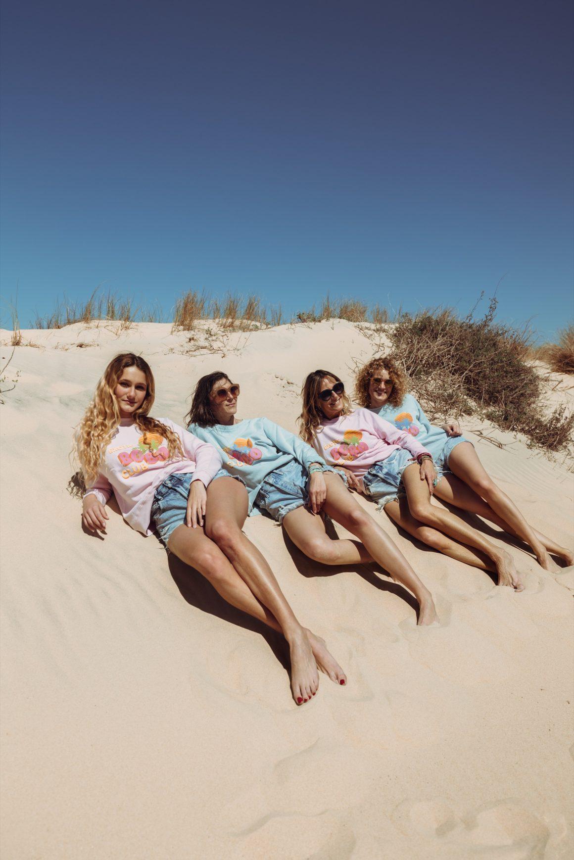 Les filles Jane de Boy en sweat-shirt David Lucas x ron ron