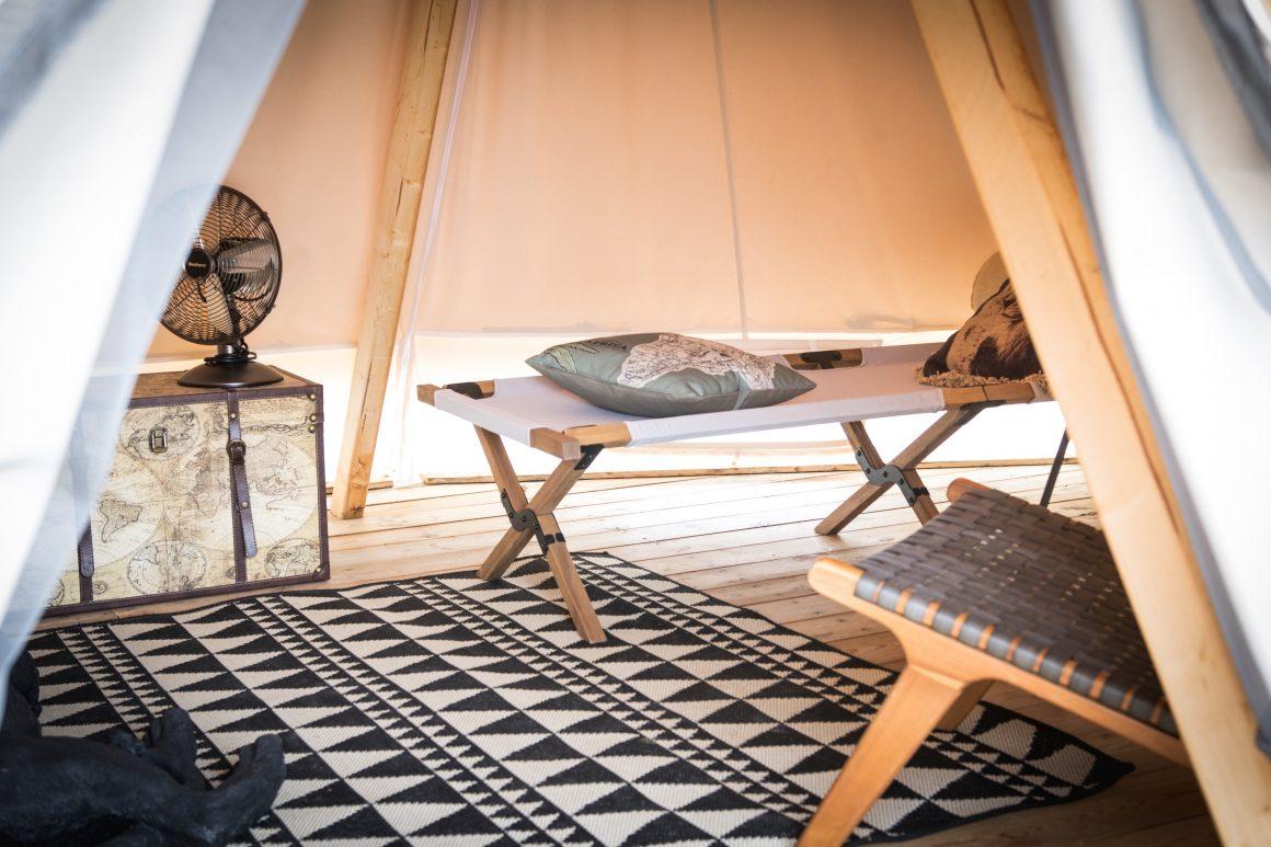 Tente d'explorateur au Whaka Lodge