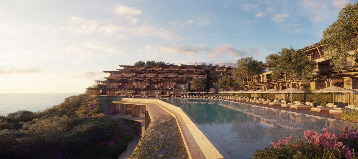 L'Hôtel Six Senses Ibiza surplombe la baie de Xarraca