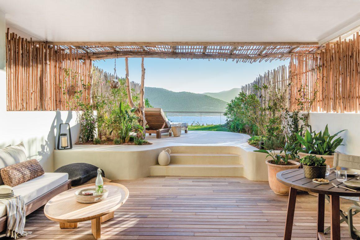 Une terrasse de l'Hôtel Six Senses Ibiza