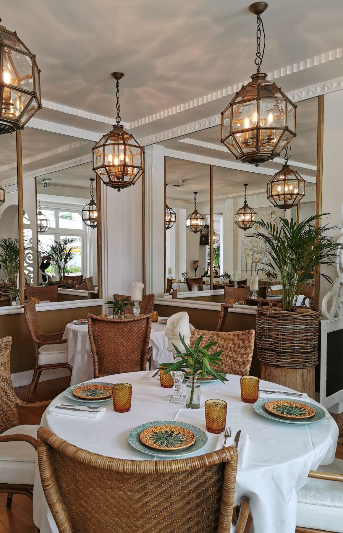 Le restaurant de l'hôtel la Palmeraie