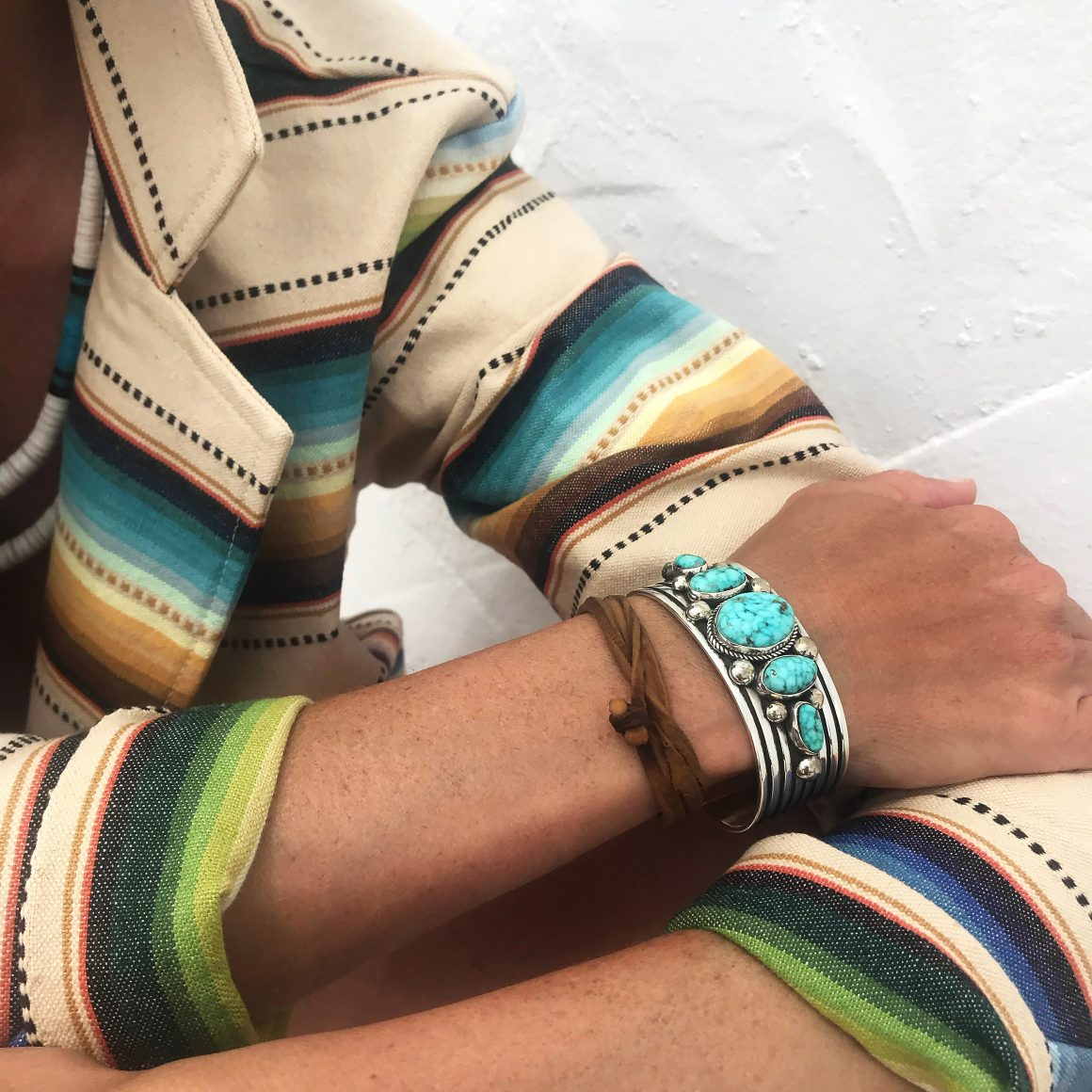 Bracelet en argent et turquoises Harpo