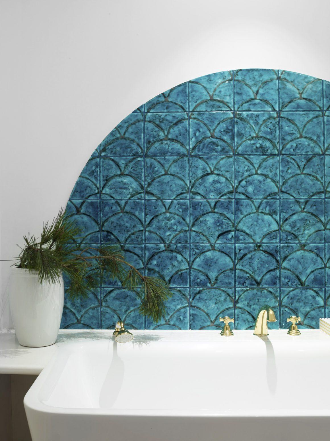 Une salle de bain de l'hôtel la Palmeraie